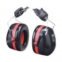 Peltor™ H10P3E Hard Hat Ear Muffs -  27 dB -  Black/Red -  ABS