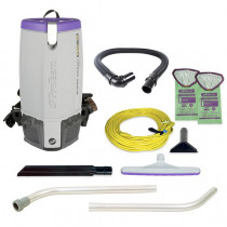 ProTeam - Super Coach Pro 10, 10 qt. Backpack Vacuum w/ Xover Multi-Surface Two-Piece Wand Tool Kit