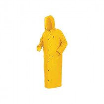 River City Classic Plus Wizard 260C Rain Coat -  M -  52 in Chest x 60 in L -  Yellow -  0.35 mm PVC/Polyester