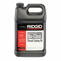 RIDGID® 70835 Pipe Thread Cutting Oil -  1 gal Can -  Mild Odor -  Clear Yellow