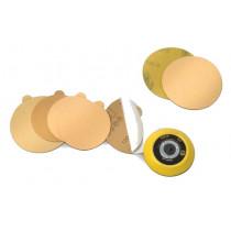 "Random Products (94605) Gold Paper PSA Disc, 6"" No Holes, 80 Grit"