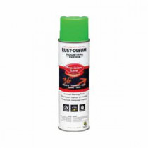 Rust-Oleum® M1600 Precision Line Solvent Base Inverted Marking Paint -  17 oz -  Liquid -  Fluorescent Green