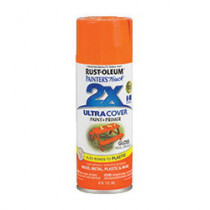 Ultra Cover 2x 249095 Enamel Spray Paint 6 per CS -  12 oz -  Liquid -  Real Orange -  8 - 12 sq-ft/Can