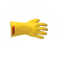 Salisbury by Honeywell E011Y/9 Class 0 Insulating Low Voltage Lineman Electrical Gloves -  SZ 9 -  Yellow -  Natural Rubber