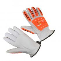 Seattle Glove (CR5) Premium Goatskin Leather Driver Gloves with TPR