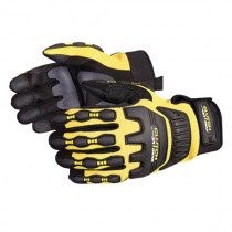 Clutch Gear® MXVSB/S Mechanics Gloves -  S -  PVC Sure Grip Palm -  Black/Yellow -  Full Fingered -  Wing Thumb
