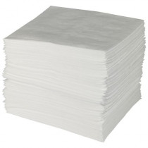 "Meltblown Oil Only Sorbent Pads, 15""x18"""