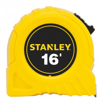 Stanley® 30-495 Tape Rule -  3/4 in W x 16 ft L Blade -  Polymer Coated Steel -  SAE -  1/16ths -  1/32nds