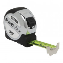 Stanley® FatMax® Xtreme® 33-900 Tape Rule -  1-1/4 in W x 35 ft L Blade -  Mylar® Polyester Film Coated -  Imperial -  1/16ths