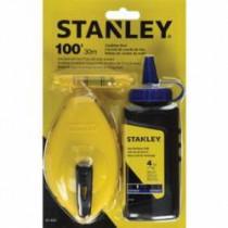 Stanley® 47-443 Chalk Box Set -  100 ft Line Length Polymer Line -  4 oz Chalk -  Sliding Door -  Folding Crank Handle