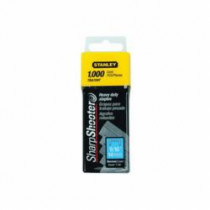 Stanley® TRA705T Heavy Duty Narrow Crown Staples -  5/16 in Leg Length -  Chisel Point -  27/64 in Crown Width
