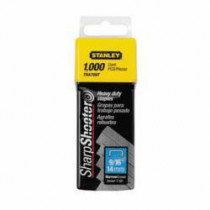 Stanley® TRA709T Heavy Duty Narrow Crown Staples -  9/16 in Leg Length -  Divergent Point -  27/64 in Crown Width