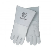 Tillman™ 750-XL Premium Grade Welding Gloves -  XL -  Top Grain Elkskin Palm -  Pearl -  Gunn Cut