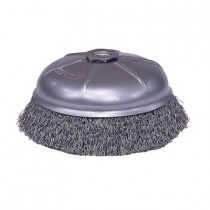 Mighty-Mite™ 14076 Cup Brush With Internal Nut -  6 in Dia -  5/8-11 -  0.02 in Steel Crimped Wire
