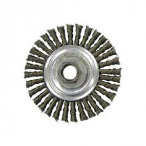 Vortec Pro® 36218 Narrow Face Wire Wheel Brush With Nut -  4 in Dia -  5/8-11 UNC -  0.02 in Stringer Bead Knotted Wire