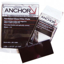 Anchor™ FS-1H-12 Filter Plate -  2 x 4-1/4 in -  Shade 12 Lens -  Green -  Hardened Glass
