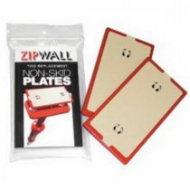 ZipWall® (NSP2) Replacement Non-Skid Plate 2 per PK -  For Use With 10 ft -  12 ft and 20 ft Spring Loaded Poles