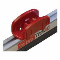 ZipWall® TC1 T-Clip -  For Use With Foam Rail™ Crossbar -  Plastic -  Red