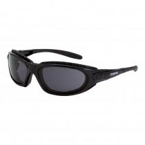 CrossFire® Journey Man Foam Lined Safety Eyewear, Shiny Black Frame, Dark Smoke AF Lens