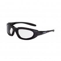 CrossFire® Journey Man Foam Lined Safety Eyewear, Crystal Black Frame, Clear AF Lens