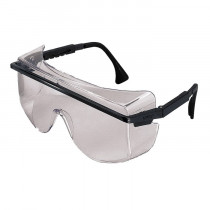 Uvex® Astro OTG® 3001 Protective Glasses, Black Frame, SGT Gray Lens