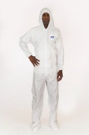 International Enviroguard MicroGuard MP® Microporous Coverall with Attached Hood & Boot, Elastic Wrist, Elastic Back