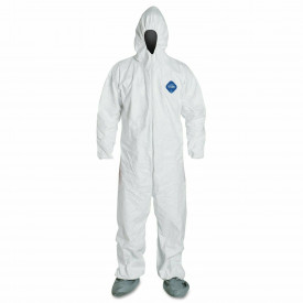 Tyvek® 400 Disposable Coverall with Hood/Boot, Elastic Wrists, 25/cs