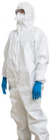 ProVent® Plus Biohazard Disposable Coverall w/Hood & Boots, White