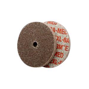 Scotch-Brite™ EXL High Performance Unitized Wheel 10 per PK -  3 in Dia x 1/8 in THK -  1/4 in -  Aluminum Oxide Abrasive