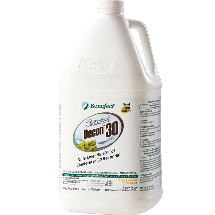 Benefect® Botanical Decon 30 - 1 Gallon - Light Lemon/Thyme -  Liquid -  Clear