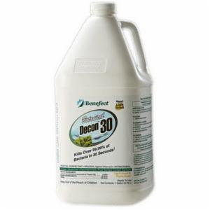 Benefect® BENARBENDECON30G Botanical Disinfectant Cleaner -  4 gal -  Light Lemon/Thyme -  Liquid -  Clear