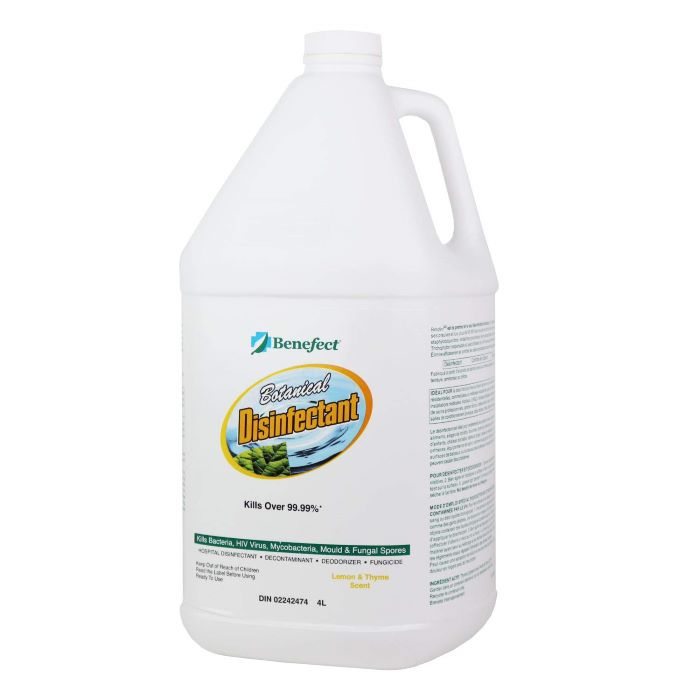 Benefect® BENDISINF Botanical Disinfectant Cleaner -  1 gallon -  Lemon/Spice -  Liquid -  Light Tan/Hazy