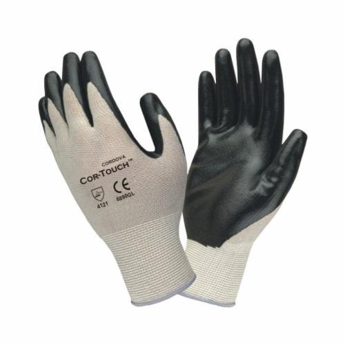 Cordova 6890GM Coated Gloves -  M -  Nitrile Palm -  Black/Gray -  100% Nylon