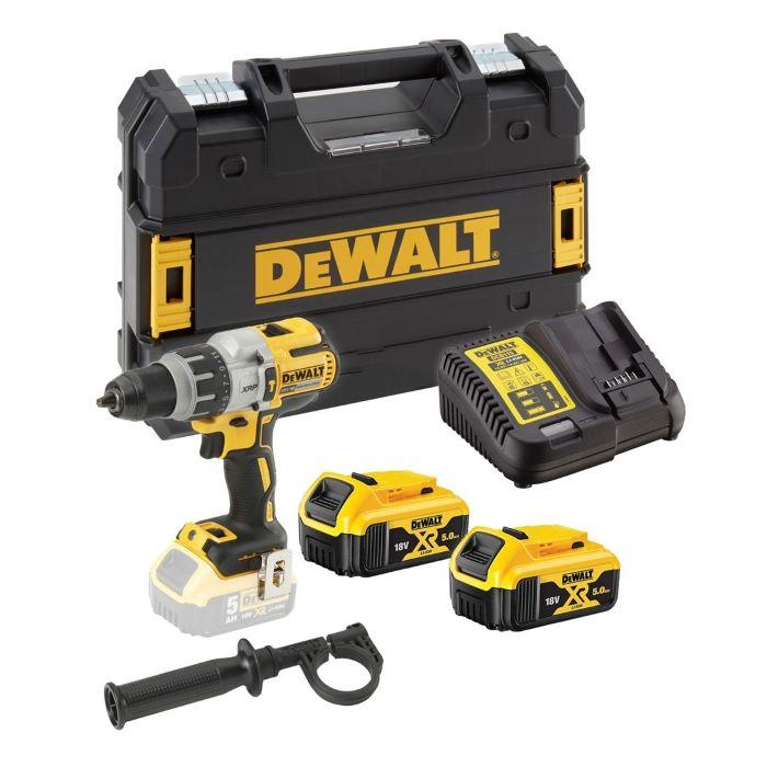 """DeWALT® 20V MAX* Cordless 3-Speed 1/2"""" Hammer Drill/Driver Kit (5.0AH)"""