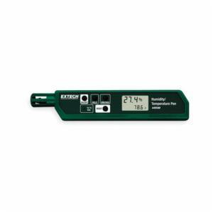 EXTECH® 445580 Compact Humidity/Temperature Pen -  +/-5% -  14 - 122 deg F -  3 V Li-Ion Power Source -  Dual LCD Display