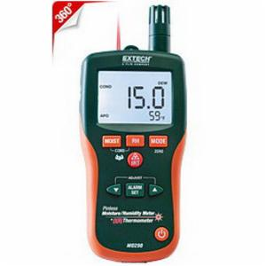 EXTECH® MO290 8-in-1 Pinless Psychrometer and Infrared Thermometer -  0 - 100% -  6-1/2 in H x 2.8 in W x 1-1/2 in D