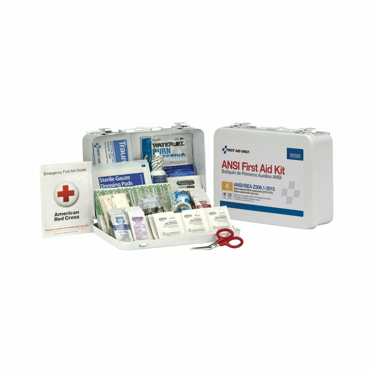 First Aid Only® 90560 Type III First Aid Kit -  Wall Mount -  25 People -  1 Shelves -  Plastic/Metal Case