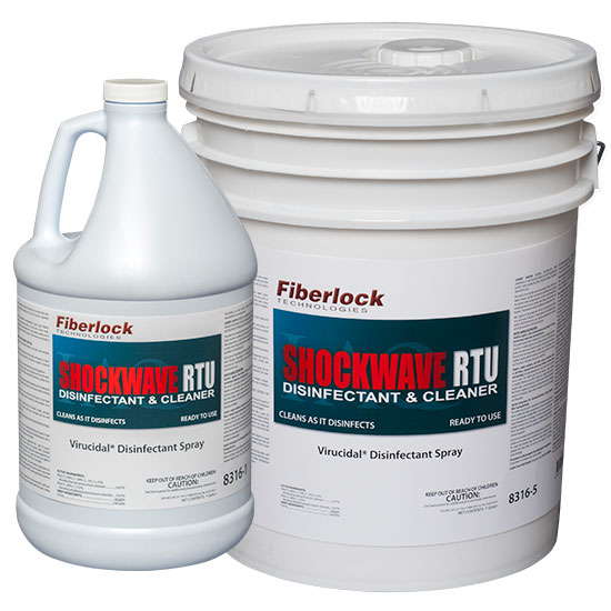 Fiberlock 8316-5 Ready to Use Disinfectant -  5 gal -  Fresh Linen/Characteristic -  Liquid -  Clear Blue