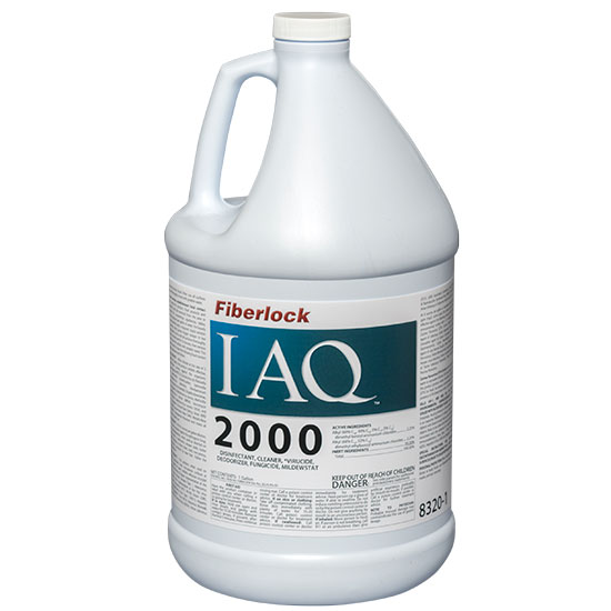 Fiberlock 8320-1 Disinfectant 4 per CS -  1 gal Jug -  Fresh Linen -  Liquid -  Clear Blue