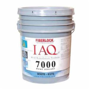 Fiberlock 8370-5 HVAC Mold Resistant Coating -  5 gal -  Viscous Liquid -  White -  100 - 200 sq-ft/gal