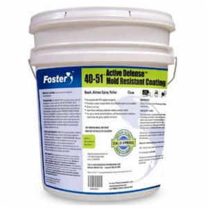 Foster® FOS4051 Low Viscosity Mold Resistant Coating -  5 gal -  Liquid -  White -  600 sq-ft/gal