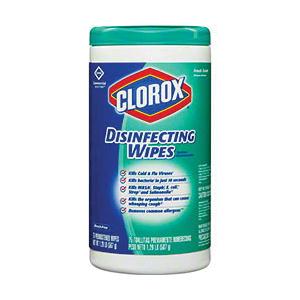 Clorox® 15949 Premoistened Disinfecting Wipes -  75 Sheets -  7 x 8 in -  Non-Woven Fiber
