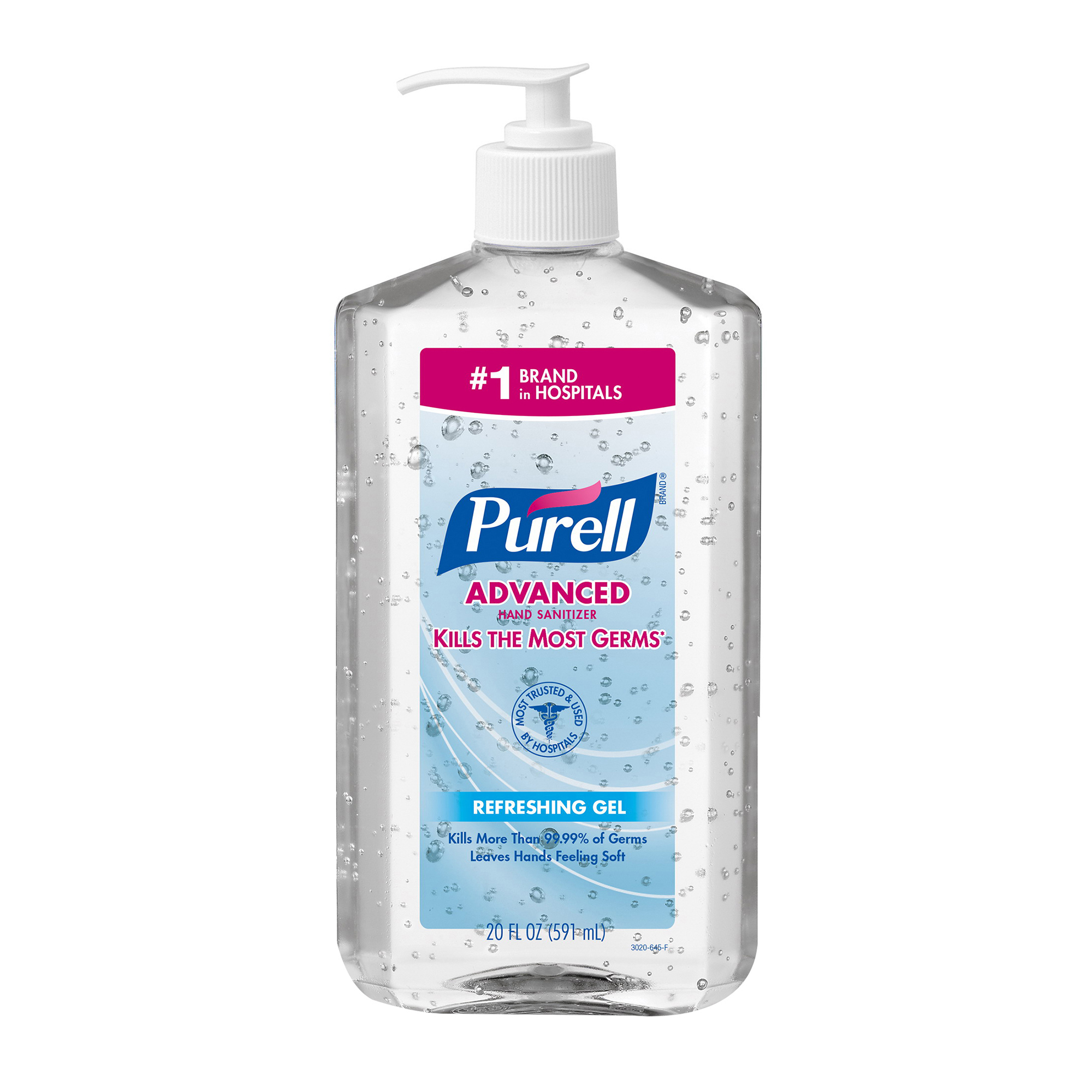 Purell® Gel Hand Sanitizer With Advanced Instant -  20 fl-oz -  Clear/Light Blue
