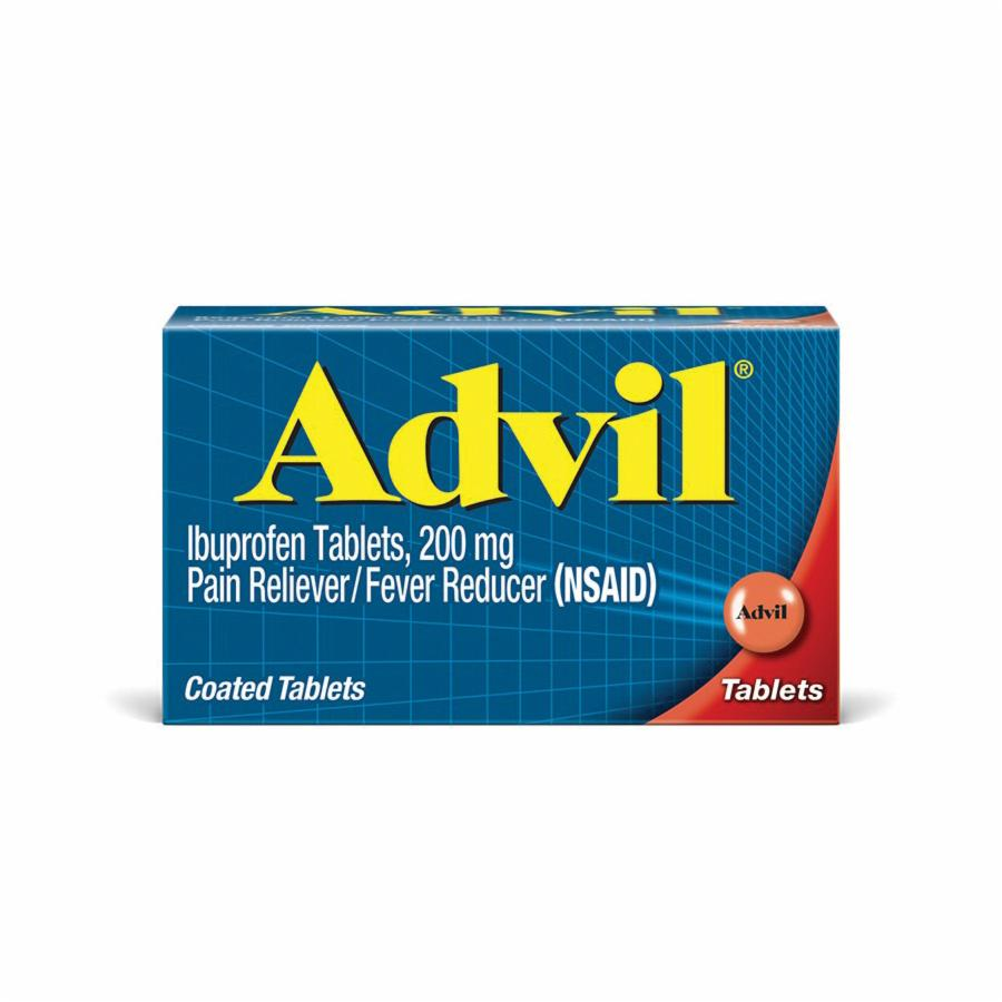 Advil® 40933 Pain Reliever Tablet 2 per BX -  Tablet -  100 -  200 mg -  Box -  Ibuprofen