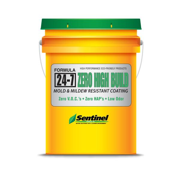 Sentinel 24-7 Zero High-Build Mold & Mildew Resistant Coating, White, 5 Gallon