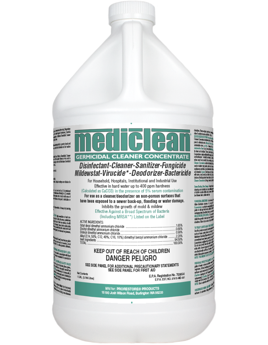 ProRestore® Microban® 221592905 Concentrate Heavy Duty Germicidal Cleaner 4 per CS -  1 gal Jug -  Pleasant -  Liquid -  Clear